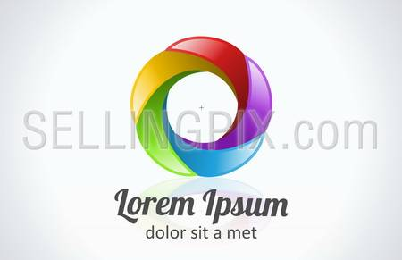 Business abstract logo template. Flower abstract icon. Infinite shape. Use for any type of business!