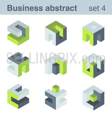 Abstract logic logo templates.Infinite shapes set. Success Team Concept