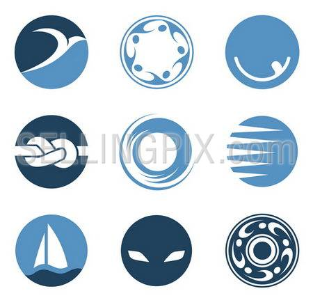 Business Abstract logo template. Circle Icon.