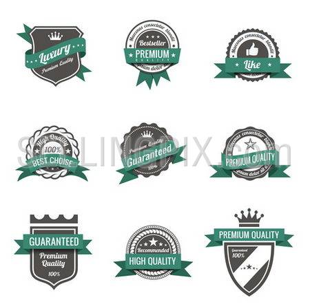 Vintage Labels set of trendy designs. Retro logo template High quality. Vector.