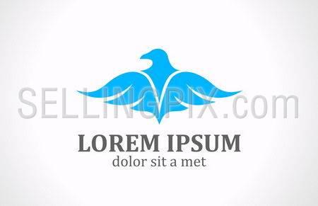 Soaring Bird logo template. Luxury style icon.
