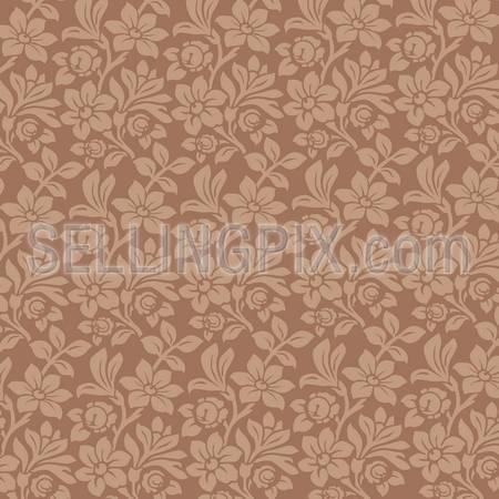 Floral Ornament background. Vintage Floral seamless pattern. Wallpaper. High detailed vector.