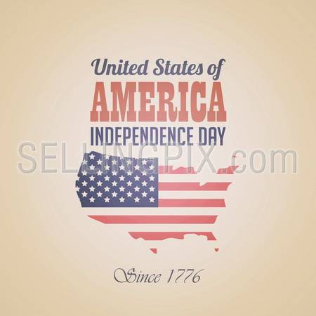 USA Independence day poster vector design template. 4th of July celebration. Ameriacan National holiday. Concept. Editable.
