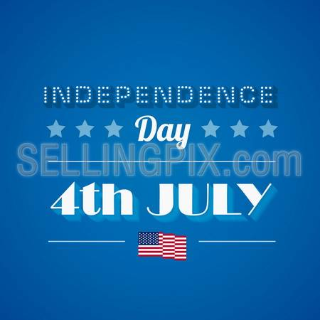 USA Independence day poster vector design template. 4th of July celebration. American National holiday. Concept. Editable.