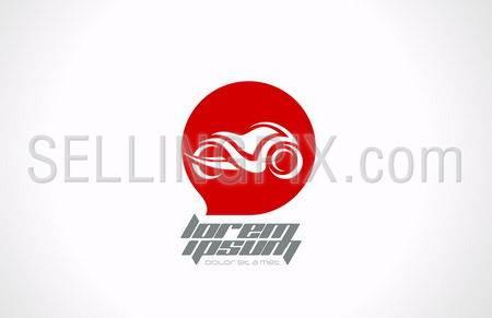Motorbike motorcycle concept logo template. Moto emblem. Vector icon. Editable.
