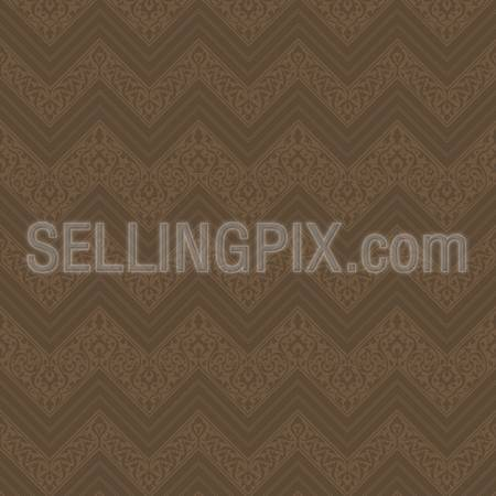 Vintage vector background abstract. Geometric old style design. Retro seamless dark brown pattern.