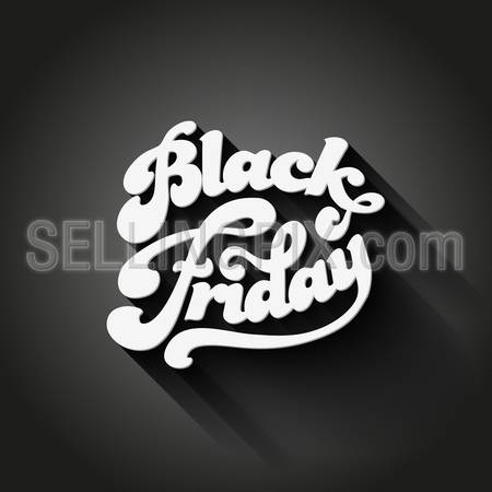 Black Friday vector Vintage design poster template. Retro style Typography. Creative lettering. Trendy. – stock vector