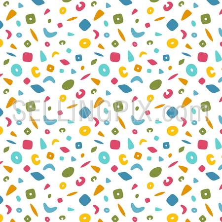 Fun Background abstract children theme. Seamless Pattern Baby vector design. – stock vector