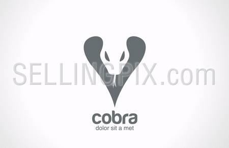Cobra snake silhouette vector logo design template. Wild reptile dangerous symbol. Terrarium concept for logotype. Snake viper sign. – stock vector