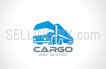 Cargo Truck vector logo design template. Delivery service concept icon. Transportation Business. – stock vector