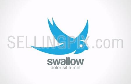 Swallow bird abstract vector logo design template. Creative concept symbol icon. – stock vector