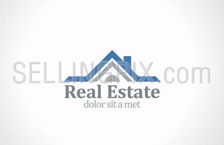 Real Estate vector logo design template. House abstract concept icon. Realty construction architecture symbol. – stock vector