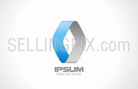 Business Corporate abstract vector logo design template. Rhombus icon. Creative loop infinity symbol. – stock vector