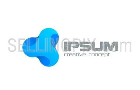 Triangle abstract Business Technology vector logo design template. Creative media concept icon. – stock vector