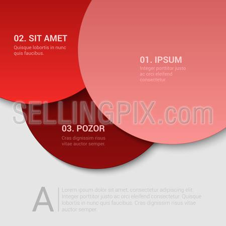 Stylish modern enumeration corporate multicolor background numbering report template mockup. Place your text and logo. Templates collection.