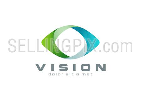 Eye Logo vision abstract design vector template. Business Technology multi-use logotype concept icon.