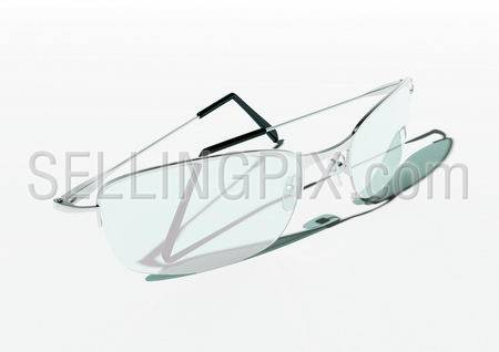 Glasses (isolated modern style folded glasses)