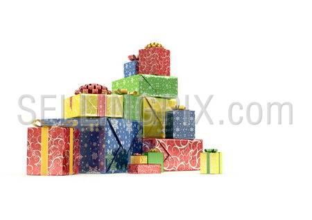 Heap of Presents Series(isolated pile of gift-boxes)