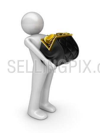 Look at my Purse! Purse Series (character holds purse full of gold coins)