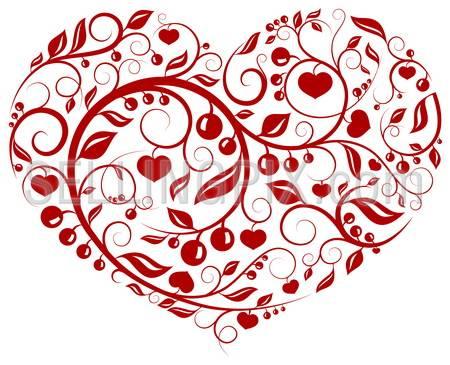 Heart pattern (love, valentine, pattern series)