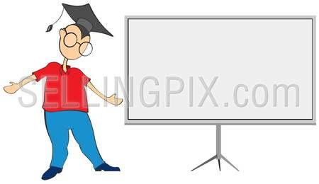 Student blackboard copyspace