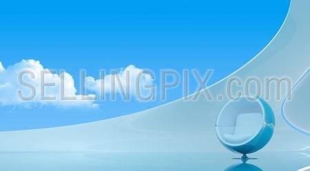 Sky interior copyspace (Future interiors series)
