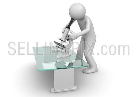 Healthcare collection – Scientist with microscope