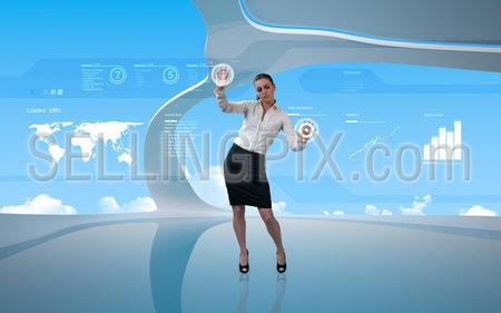 Attractive latina operating interface