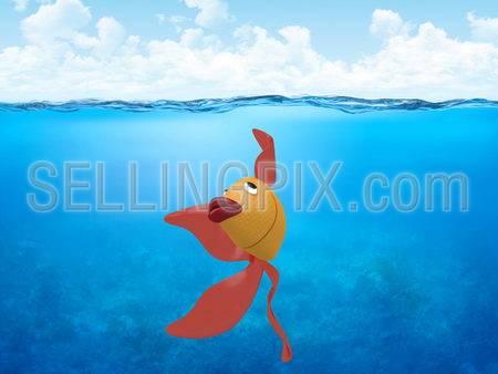 Underwater collection – Golden carp