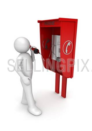 Lifestyle collection – Man in call box