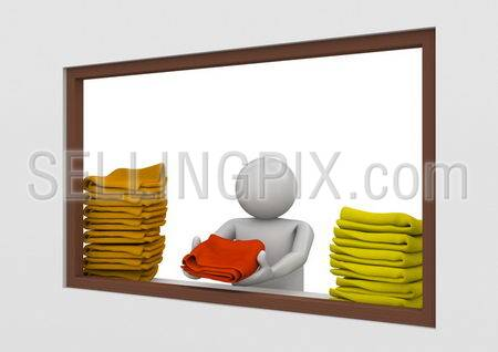 Workers collection – Beach towel station worker
