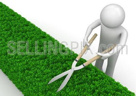 Nature collection – Gardener with garden shears