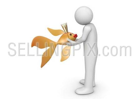 Fairy tales collection – Man with golden carp