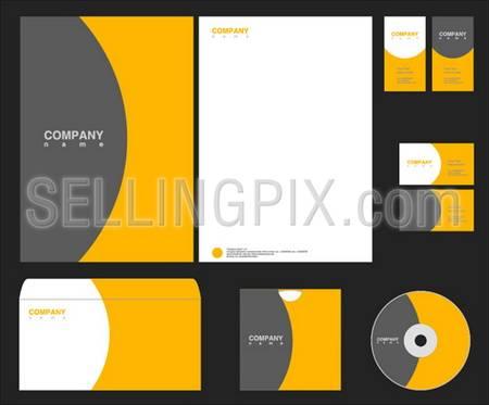 Vector orange-grey identity – Styles collection