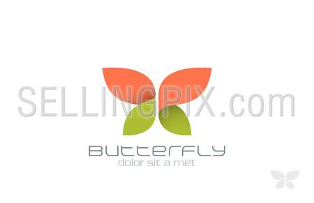 Butterfly Fashion vector logo design template. Insect.