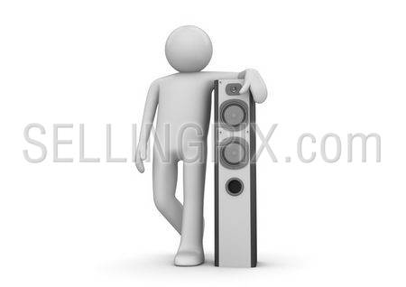 Man near speaker – Music collection