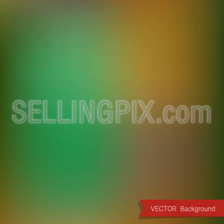 Green Blurred Background Abstract vector with ribbon