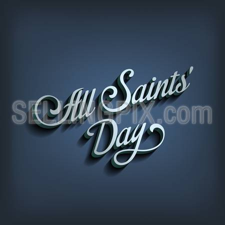 All Saints Day type calligraphic typography.