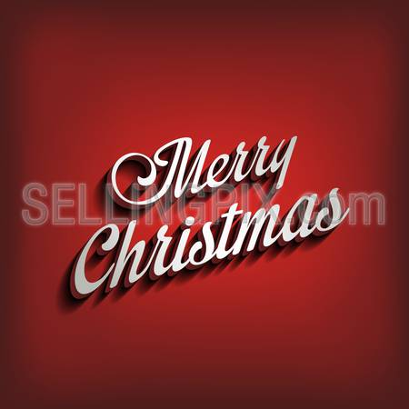 Merry Christmas type calligraphic typography.