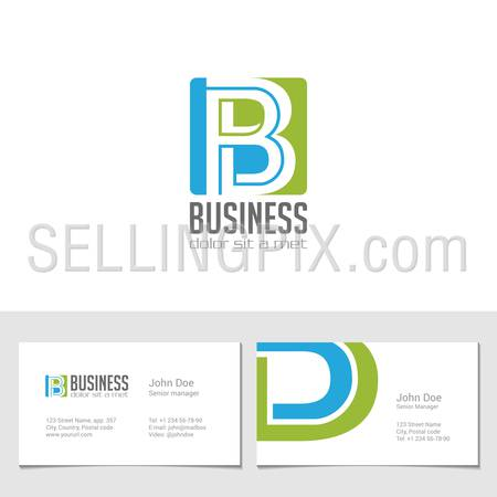 Corporate Logo B Letter company vector design template.