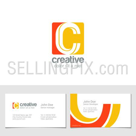 Corporate Logo C Letter company vector design template.