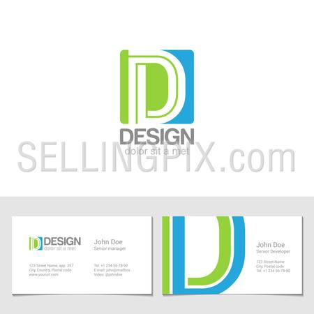 Corporate Logo D Letter company vector design template.