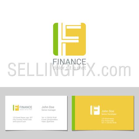 Corporate Logo F Letter company vector design template.