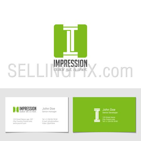 Corporate Logo I Letter company vector design template. Logotype with identity business visit card.