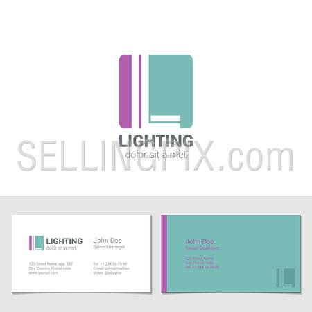 Corporate Logo L Letter company vector design template. Logotype with identity business visit card.