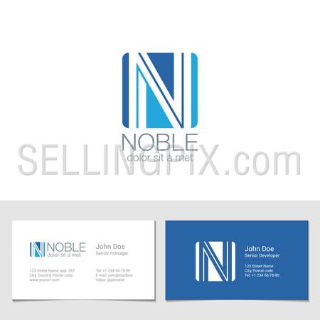 Corporate Logo N Letter company vector design template. Logotype with identity business visit card.