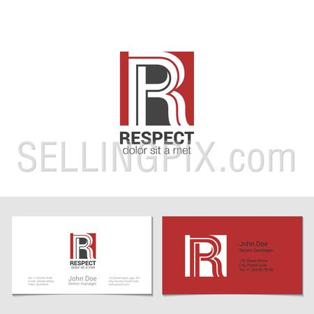 Corporate Logo R Letter company vector design template. Logotype with identity business visit card.