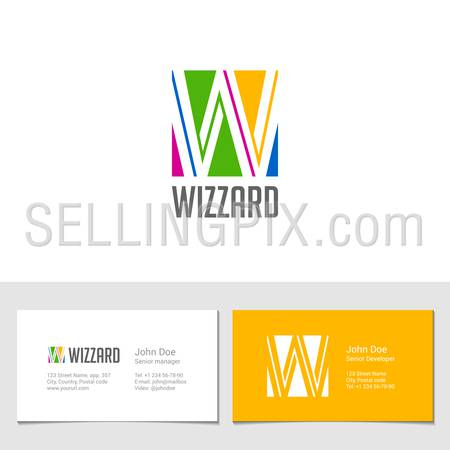 Corporate Logo W Letter company vector design template. Logotype with identity business visit card.