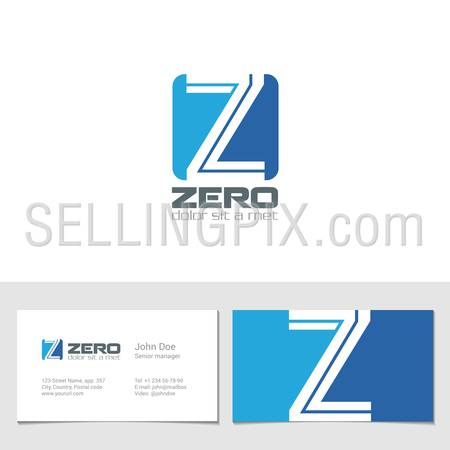 Corporate Logo Z Letter company vector design template. Logotype with identity business visit card.