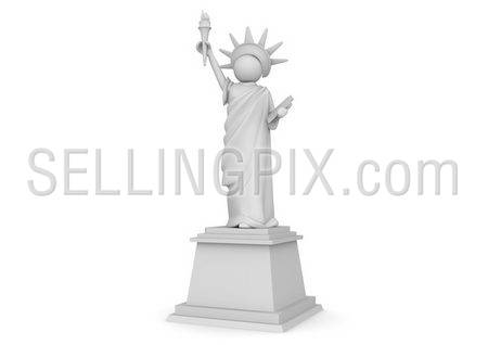 Statue of Liberty Cartoon – 3D Characters Collection
